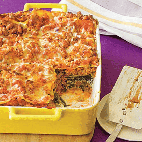 Easy meal Ultimate Spinach and Turkey Lasagna