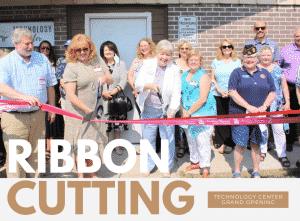 Ribbon cutting of Technology Center